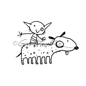 Gus Fink | GF7149G - Besties - Rubber Art Stamp