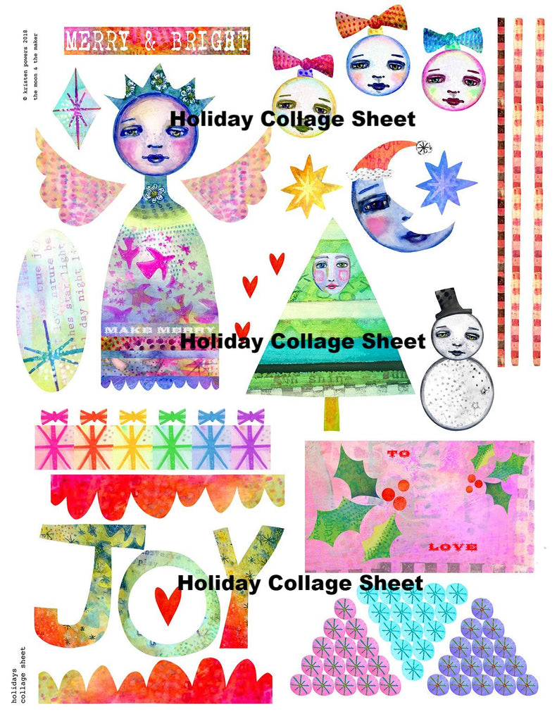 Holiday Collage Sheet from Kae Pea via US Mail