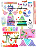 Digital Download Only | Holiday Collage Sheet from Kae Pea