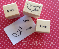 Dave Brethauer | Love Stamp Set | Rubber Art Stamps (Set of 3)