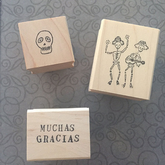 Milagros | Muchas Gracias D.O.D Set of 3 Stamp Set | KPS01 | Rubber Art Stamps