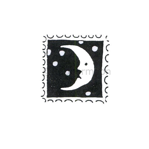 Jane Cather | JC132B - Moon Stamp - Rubber Art Stamp
