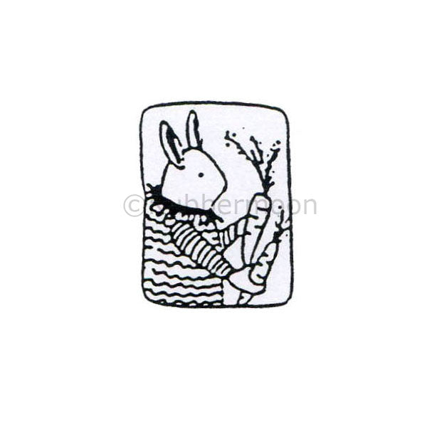 Jane Cather | JC133C - Fistful of Carrots - Rubber Art Stamp