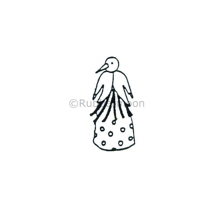 Busy Woman - JC141B - Rubber Art Stamp