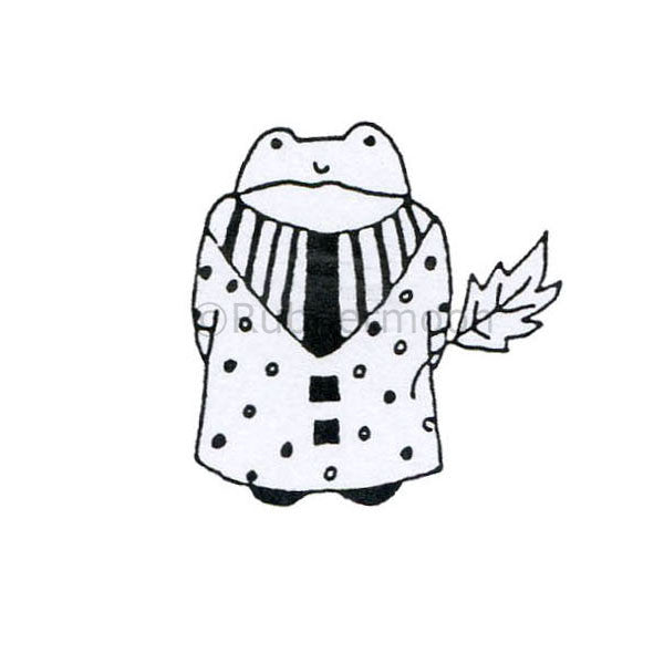 Toadally Cool - JC232D - Rubber Art Stamp