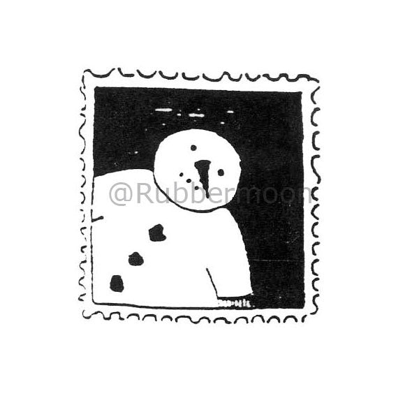 Jane Cather | JC234C - Snowman Stamp - Rubber Art Stamp