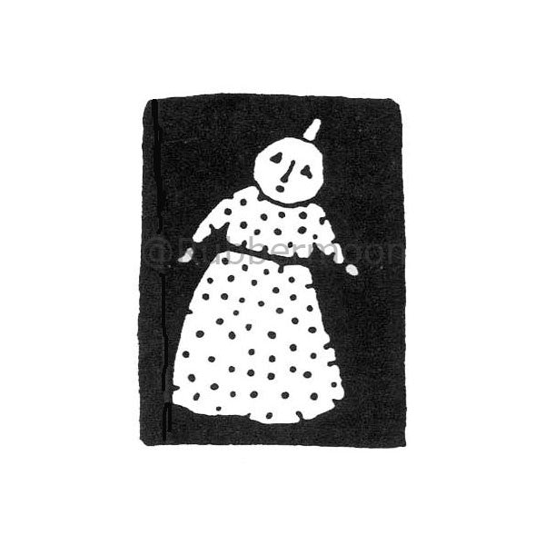 Anna at Night - JC235D - Rubber Art Stamp