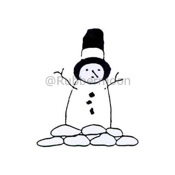 Son of Frosty - JC236C - Rubber Art Stamp