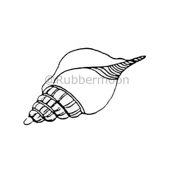 Jane Cather | JC240D - Conch Shell - Rubber Art Stamp