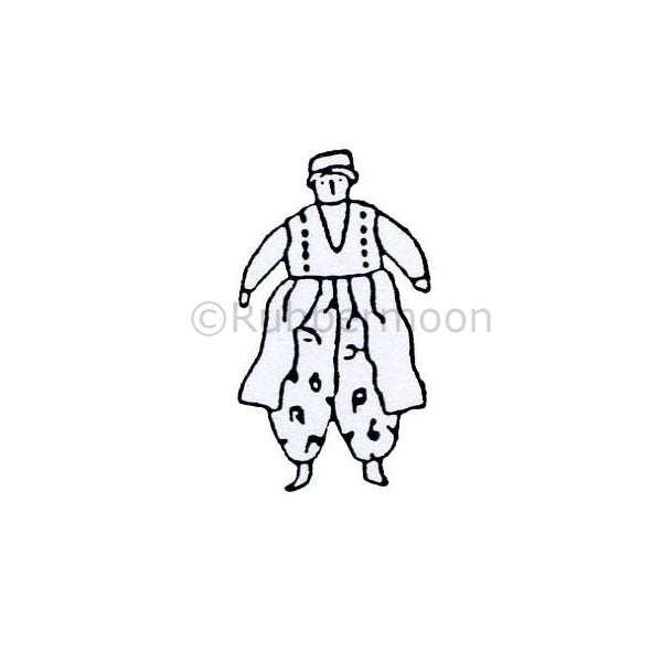 Jane Cather | JC246C - Baggy Pants - Rubber Art Stamp