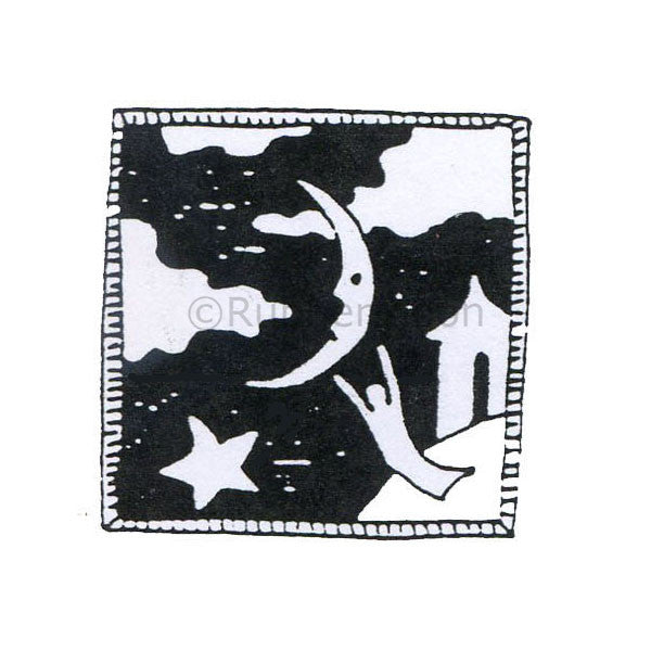 Jane Cather | JC333D - Night Woman - Rubber Art Stamp