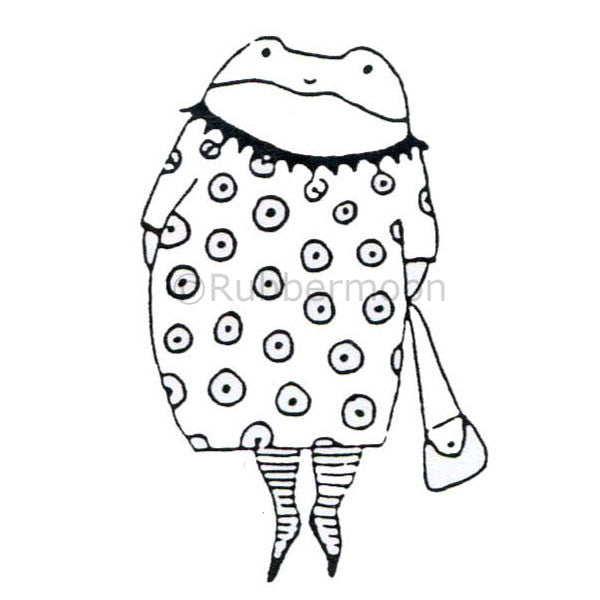 Jane Cather | JC334D - Toad Girl - Rubber Art Stamp