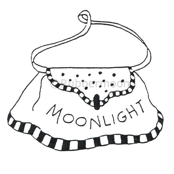 Jane Cather | JC335E - Moonlight Purse - Rubber Art Stamp