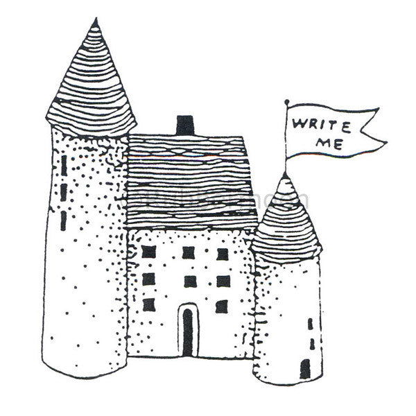 Jane Cather | JC336F - Castle - Rubber Art Stamp