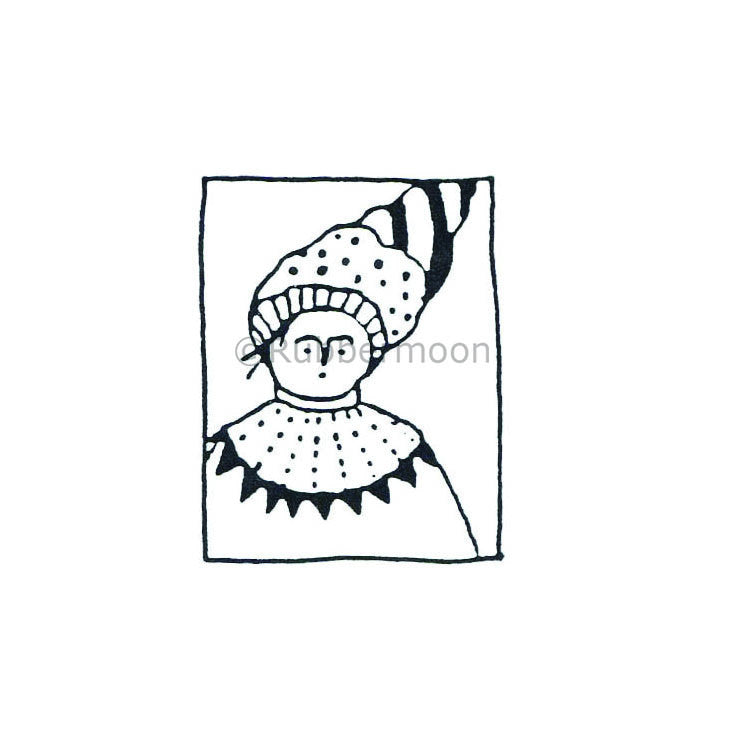 Jane Cather | JC422D - Ms. Margaret - Rubber Art Stamp