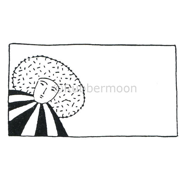 Jane Cather | JC432F - Message Box - Rubber Art Stamp