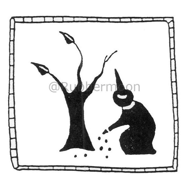 Jane Cather | JC436E - Garden Witch - Rubber Art Stamp