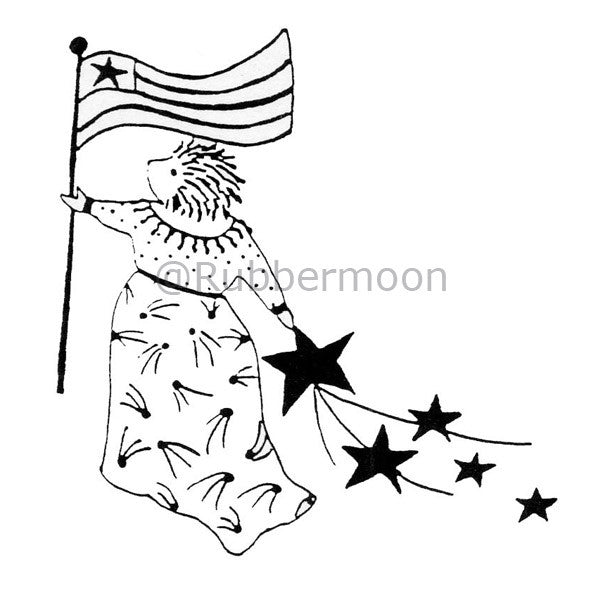 America! - JC442G - Rubber Art Stamp