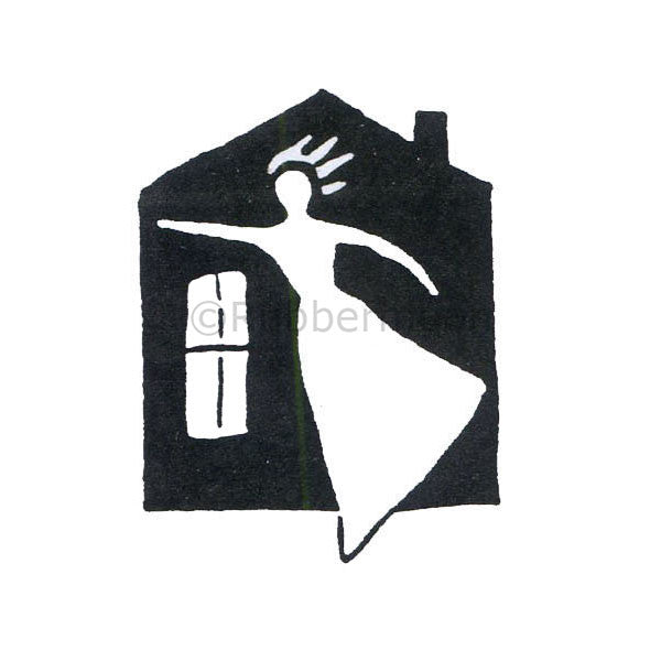 Jane Cather | JC453D - Lady's House - Rubber Art Stamp