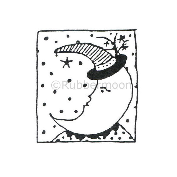 Jane Cather | JC458D - Ms. Moon - Rubber Art Stamp