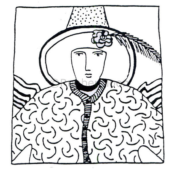 Jane Cather | JC532G - Charlene - Rubber Art Stamp