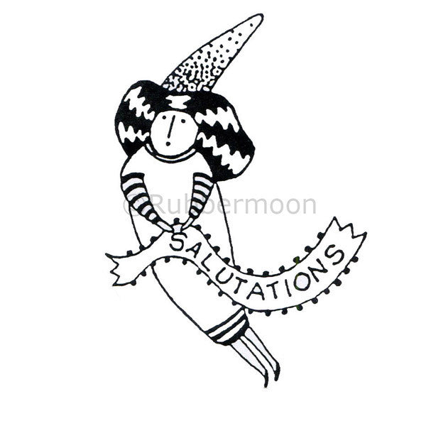 Jane Cather | JC537G - Salutations - Rubber Art Stamp
