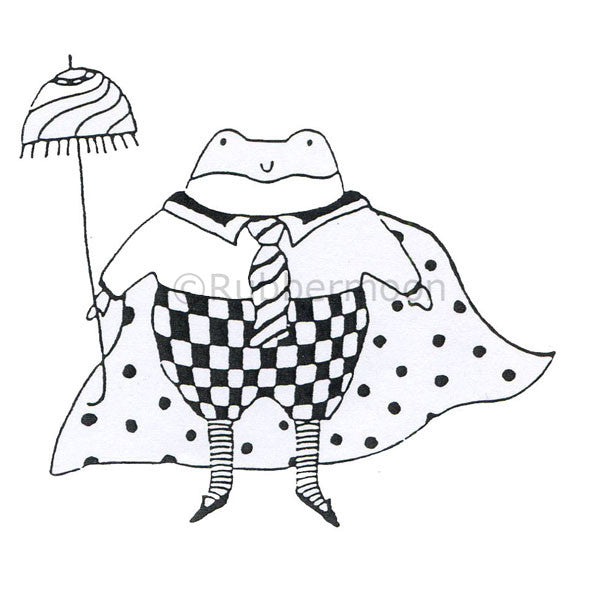 Jane Cather | JC538G - Super Toad Prince - Rubber Art Stamp