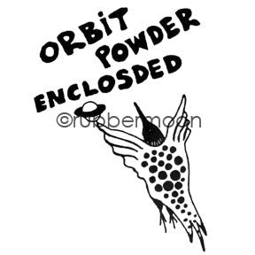 Jane Cather | JC542G - Orbit Powder - Rubber Art Stamp