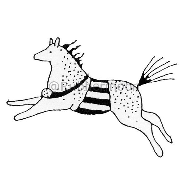 A Horse, of Course - JC553E - Rubber Art Stamp