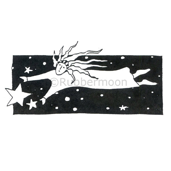 Jane Cather | JC631H - Night Hair - Rubber Art Stamp