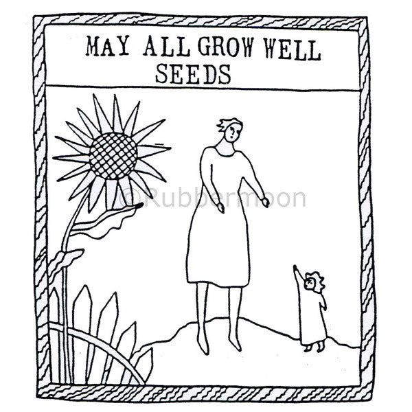 Jane Cather | JC640L - May All Grow Well - Rubber Art Stamp