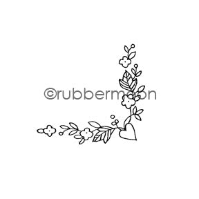 Jone Hallmark | JH7528D - Love in Your Corner - Rubber Art Stamp