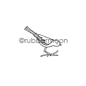 Jone Hallmark | JH7529B - Small Sparrow  - Rubber Art Stamp