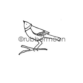 Jone Hallmark | JH7531B - Small Sparrow 2 - Rubber Art Stamp