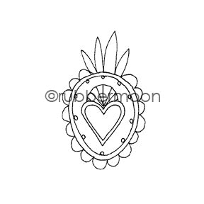 Jone Hallmark | JH7535E - Heart Medallion - Rubber Art Stamp