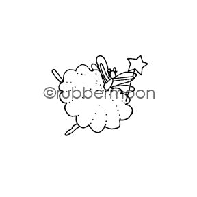Jone Hallmark | JH7545D - Fanciful Fairy - Rubber Art Stamp