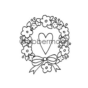 Jone Hallmark | JH7547E - Love All Around - Rubber Art Stamp