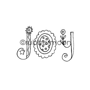 Jone Hallmark | JH7556C - Joy - Rubber Art Stamp