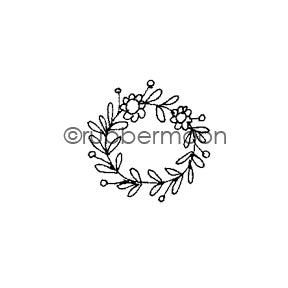 Jone Hallmark | JH7559A - Teeny Wreath - Rubber Art Stamp