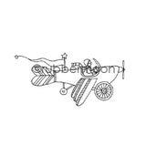 Jone Hallmark | JH7561H - Star-Powered - Rubber Art Stamp