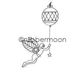 Jone Hallmark | JH7563H - Balloon Race - Rubber Art Stamp