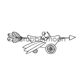 Jone Hallmark | JH7564G - Arrow-Dynamic - Rubber Art Stamp
