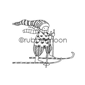 Jone Hallmark | JH7568F - Hit the Slopes - Rubber Art Stamp