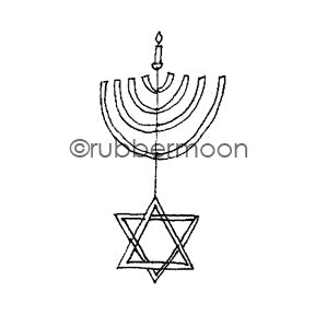 Jone Hallmark | JH7569C - Hanukkah Happiness - Rubber Art Stamp