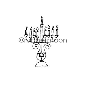 Jone Hallmark | JH7570B - Mini Menorah - Rubber Art Stamp