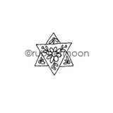 Jone Hallmark | JH7571B - Whimsical Star of David - Rubber Art Stamp