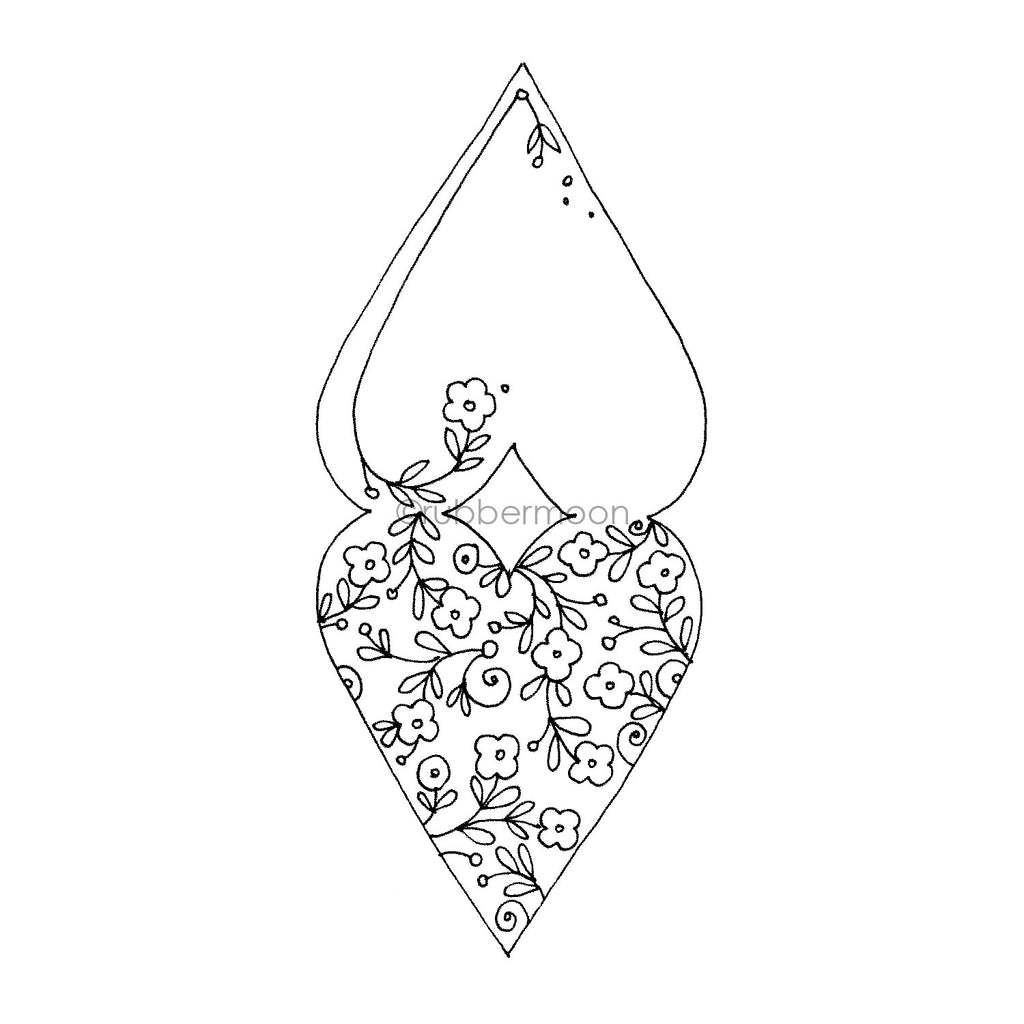 Jone Hallmark | JH7637J - Heart and a Half - Rubber Art Stamp