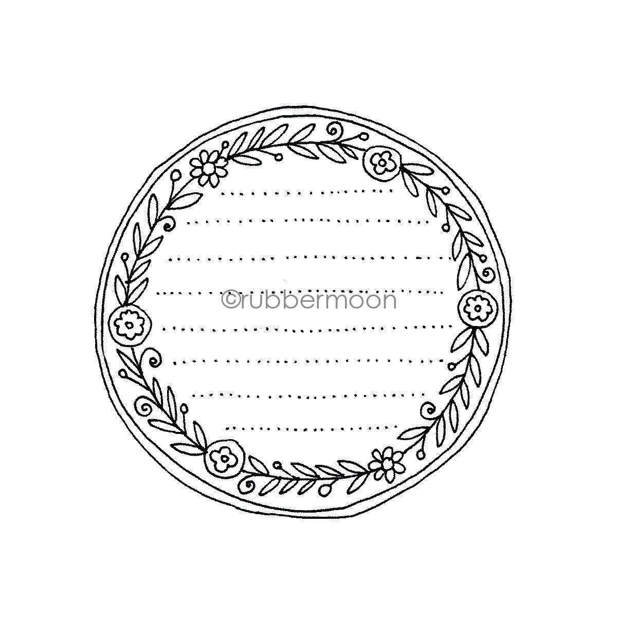 Jone Hallmark | JH7647I - Journal Spot - Rubber Art Stamp