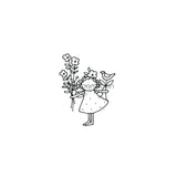 Jone Hallmark | JH7655F - Flowers for You - Rubber Art Stamp