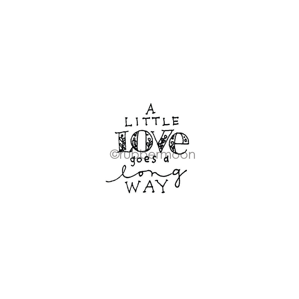 "Jone Hallmark | JH7662E - ""A Little Love..."" - Rubber Art Stamp"